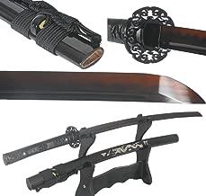 Lyuesword Hand Forged Damascus Folded Steel Clay Tempered Japanese Samurai Sword Katana Dragon Saya