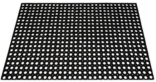 ID matt M10Holzrost Gummi schwarz 120x 80x 1,7cm