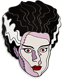 Vintage Bride of Frankenstein Horror Enamel Lapel Pin