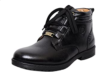 Zoom Men's Pure Leather Formal Shoes D-3571-Black-5