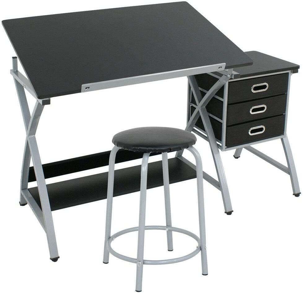 Drafting Table Drawing Adjustable Desk Board Stoo Time sale with Art Craft trust