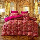 Luxuriöse All Seasons Bettdecke, 98% Hochwertige Weiße Gans Festliche Flauschige Bettdecke, Bettdeckeneinsatz
