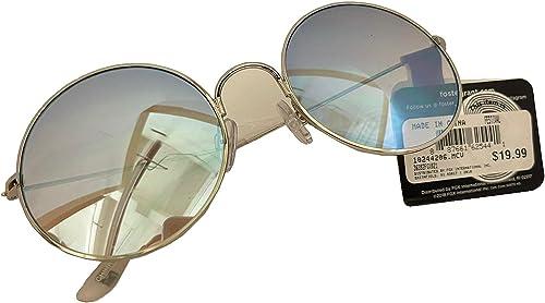 2021 Foster Grant Round 2021 Festival Hippie Women's Blue Silver online sale Sunglasses online