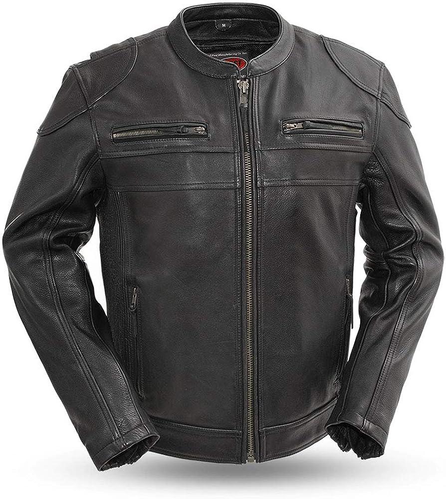 First Mfg Co Diamond Men's Leather Jacket