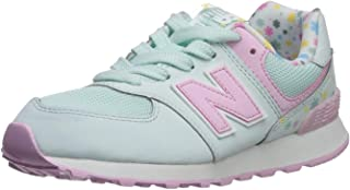 New Balance Girls 574v1 Lace-Up Sneaker, Crystal Sage/Cr, 11 S M US Toddler (1-4 Years)