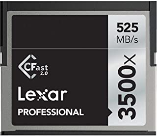 Lexar 128GB Professional 3500x CFast 2.0 Memory Card for 4K Video Cameras, Up to 525MB/s Read, Up to 445MB/s Write Speed