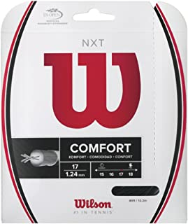 Wilson NXT Multifilament 17 Gauge Tennis Racket String in Black Color (Best String for Power and Comfort)