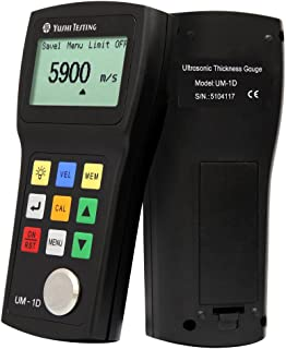 YUSHI UM1 Series UM-1D Handheld Portable Ultrasonic Thickness Gauge Tester Meter 0.03'' to 12'' w/PT-08 Probe/Transducer P-E & E-E (echo-echo) Through Paint & Coatings