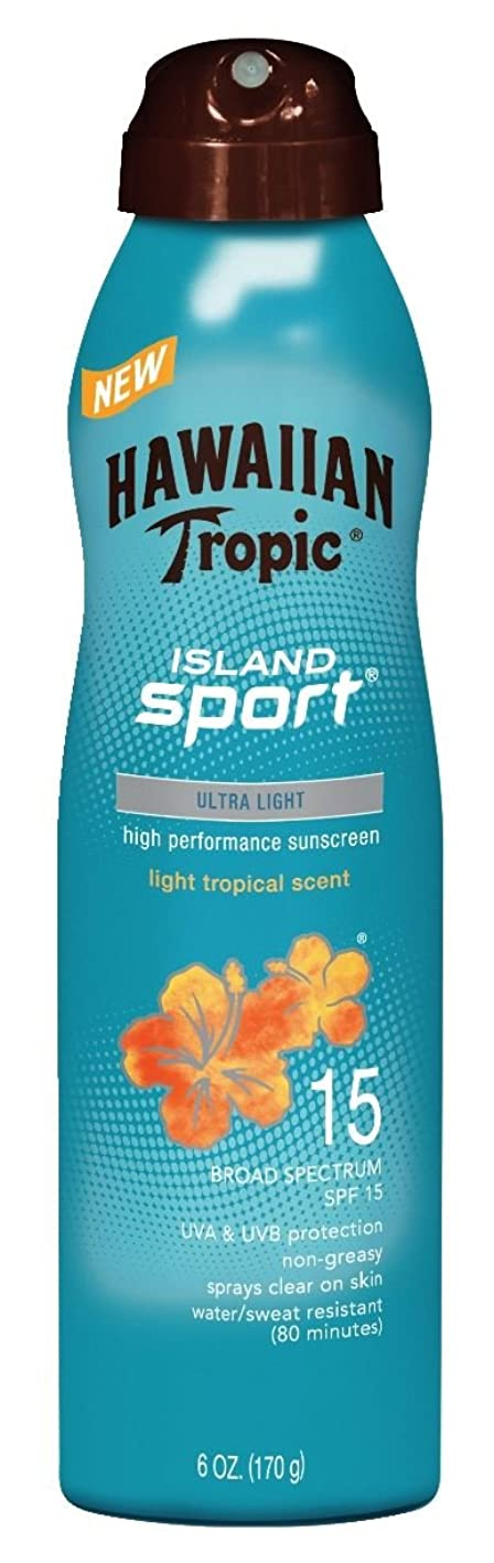 Hawaiian Tropic Sunscreen Island Sport Broad Spectrum Sun Care Sunscreen Spray - SPF 15, 6 Ounce gnkbebgeybt307
