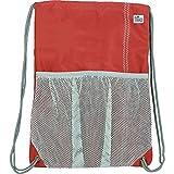 SailorBags Drawstring Bag, One Size, Red/Grey