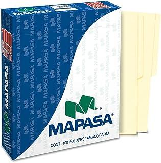 Mapasa PC0001 Paquete con 100 Sobres, Tamaño Carta, color Crema
