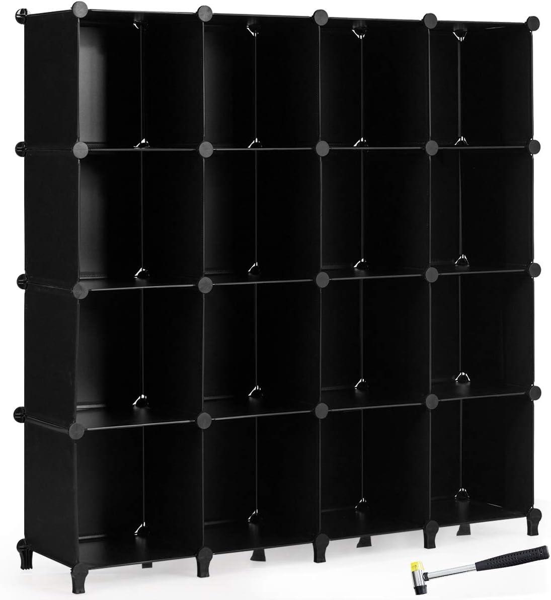 Tangkula 16 Cubes Storage Organizer trust Closet Plastic Cabin Our shop most popular PP DIY