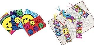 Just4fun 4 Dozen (48) SMILEY FACE Party FAVORS- 24 Mini Spiral NOTEBOOKS & 24 BOOKMARKS - SMILE Emoticon Emoji Classroom TEACHER Rewards