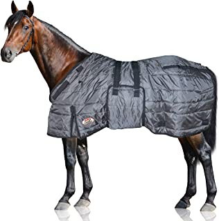 Derby Originals Windstorm Series Premium Horse and Draft Winter Stable Blanket with 420D Breathable Nylon Exterior - Medium Weight 200g Polyfil Insulation