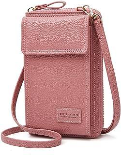 Handytasche zum Umhängen,Aeeque Handy Umhängetasche Damen,Handytasche mit Geldbörse Leder für Reise/Einkaufen/Party,Handy ...