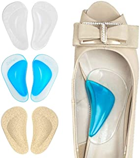 Dr. Foot's Arch Support Shoe Insoles for Flat Feet, Gel Arch Inserts for Plantar Fasciitis, Adhesive Arch Pad for Relieve ...