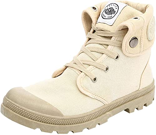 ZHRUI Femmes Bottes Palladium Style Fashion Haut-Haut Haut-Haut Haut-Haut Sport Militaire Bottines Chaussures Décontracté (Couleuré   Kaki, Taille   4 UK) 83e
