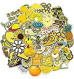 Pauplian 50PCS VSCO Cute Stickers Little Animal Graffiti Waterproof Vinyl Stickers for Suitcase Trolley Water Bottle Hydro Flask Helmet Tumbler Luggage Skateboard Stickers (Yellow)