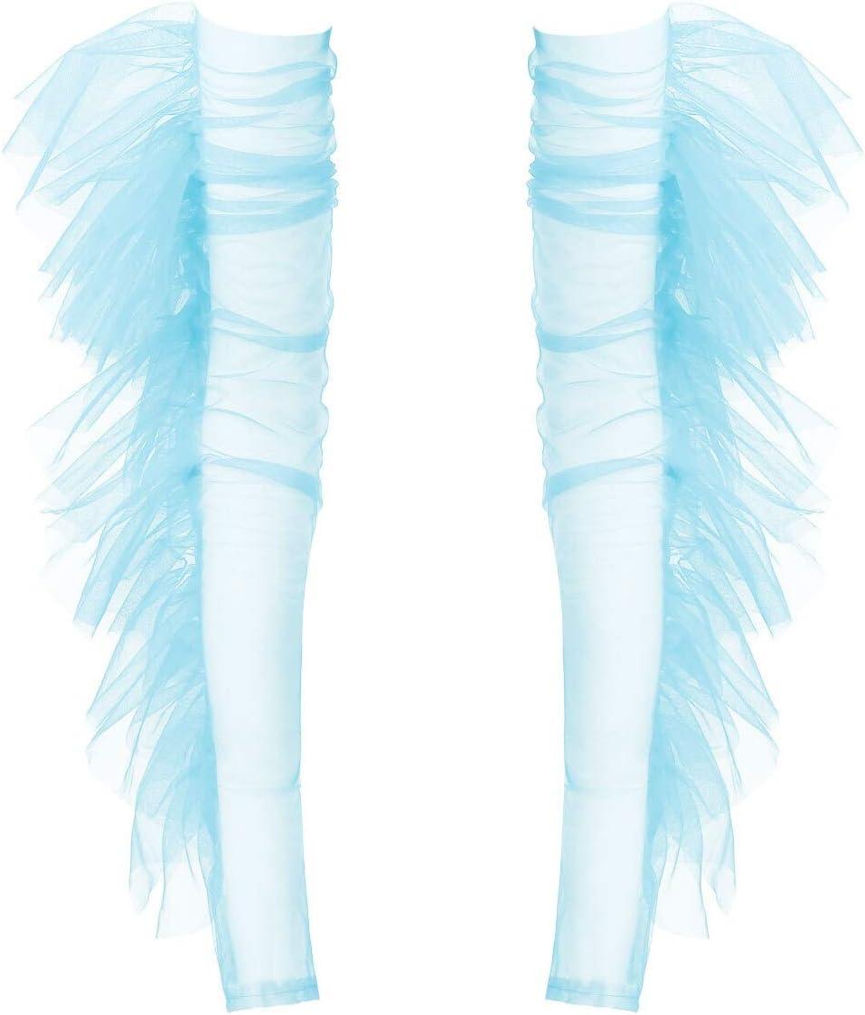 DFYYQ New York Mall 1 Pair Womens Elegant Bride Ruffles Gloves Fingerless Trim 67% OFF of fixed price