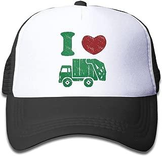 Children's I Love Trash Garbage Trucks hat Truck Hat Mesh Cap