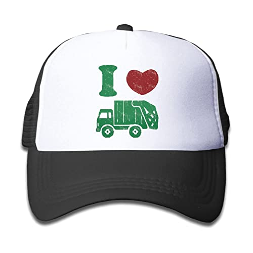 9eb7a248b48 Waldeal Children s I Love Trash Garbage Trucks hat Truck Hat Mesh Cap