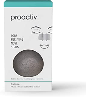 Proactiv Pore Purifying Nose Strips For Blackheads - Pore Cleansing Strips Plus A Charcoal Cleansing Sponge For Black Head...