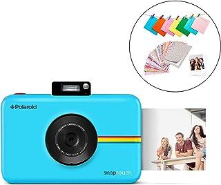 Polaroid Snap Touch 2.0 - Cámara digital portátil instantánea de 13 Mp Bluetooth pantalla táctil LCD tecnología Zink sin tinta y nueva aplicación copias adhesivas de 5 x 7.6 cm azul