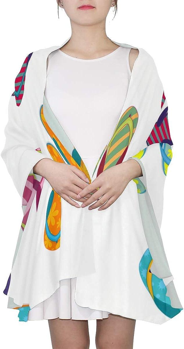Shawl Wraps Colorful Beautiful Beach Slippers Lightweight Scarfs For Women Head Scarf For Women Lightweight Print Scarves Womens Fashion Scarf Ladies Scarfs