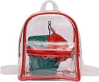 Fashion Transparent PVC Backpack Women Bookbag Candy Travel Backpack Purse Crystal Beach Bag Portable