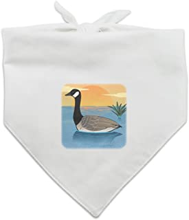 Graphics and More Canadian Goose Geese Swimming Canada Dog Pet Bandana - White
