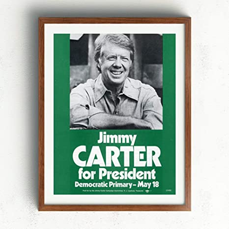 Amazon Com Vintage Posters Jimmy Carter For President 1979 Reprint Artwork 111b Professional Wall Art Merchandise Democratic Ad Posters Prints