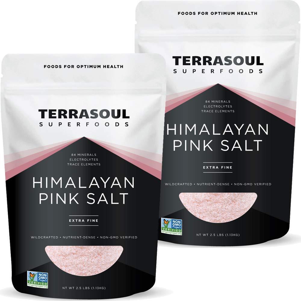 Philadelphia Mall Terrasoul Superfoods Himalayan Pink Salt 5 Lbs Time sale Pack Extra 2 -