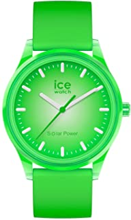Ice-Watch - Ice Solar Power Grass - Montre Verte Mixte avec Bracelet en Silicone - 017770 (Medium)