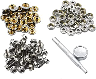 """152PCS 3//8/"""" Boat Marine Canvas Canopy Fastener Snap Cover Button /& Socke+Screw g"""