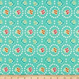 Riley Blake Granny Chic Curtains Teal Quilt Fabric By The Yard