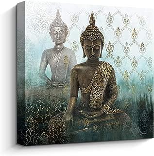 Pigort - Premium Canvas Print Zen Buddha Wall Art Decor Religion Wall Paintings Stretched (31.5