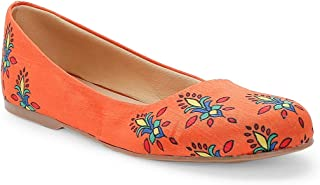KANVAS Women Ethnic Orange Noor Ballerina Shoes