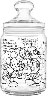 H&H Mickey Heritage Disney Jar, Glass, Transparent/Black, 10.5x21.5 cm
