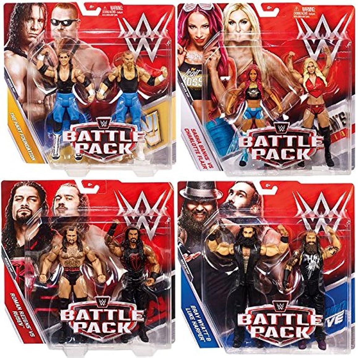 WWE Battle Packs 47 - Complete Set of 4 Mattel Toy Wrestling Figure 2-Packs