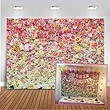 Mehofoto flor de pared Telón de fondo 7x5ft del agua Fotografía floral de la flor de las rosas de colores de fondo para la boda, infantil, recién nacido, bebé