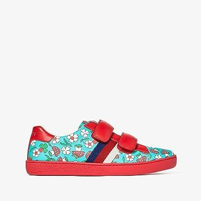 Gucci Kids Ace VL Sneaker (Little Kid/Big Kid) (Turquoise/Multi) Girl