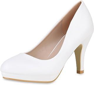 SCARPE VITA Damen Pumps High Heels mit Pfennigabsatz Lack Hochzeit Abiball