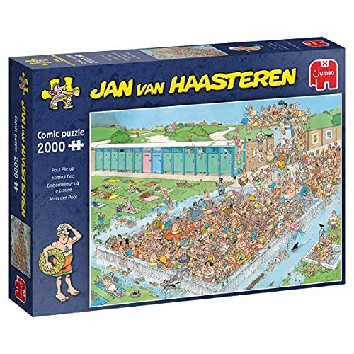 Jumbo 20040 Jan Van Haasteren-Ab in den Pool-2000 Teile Puzzlespiel, Mehrfarben