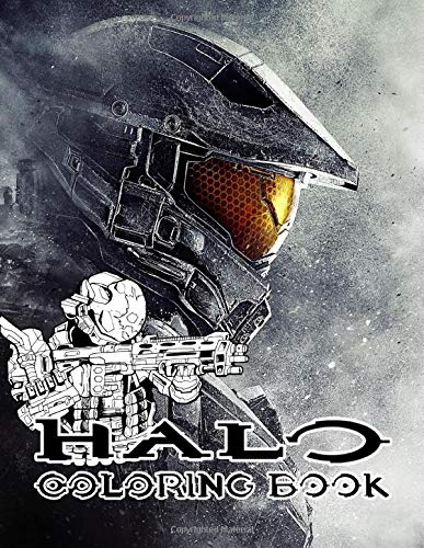 Halo Coloring Book: Bring the supersoldiers and their superweapons into life