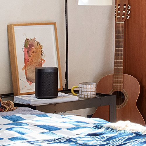 Sonos One Generazione 2 Smart Speaker Altoparlante Wi-Fi Intelligente, Controllo Vocale Amazon Alexa, AirPlay e Google Assistant, Nero
