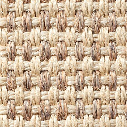 Teppichboden Auslegware | Sisal Naturfaser Schlinge | 400 cm Breite | natur weiss | Meterware, verschiedene Größen | Größe: 7 x 4m