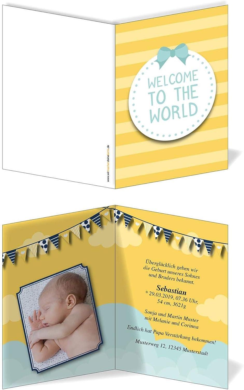 Geburtskarten Babykarten individuell - Junge Schleife Schleife Schleife B07MQVFRZY | Modisch  ee496e