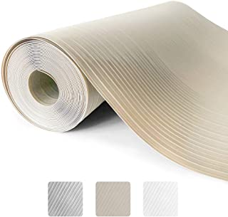 Gorilla Grip Ribbed Top Drawer and Shelf Liner, Non Adhesive Roll, 17.5 Inch x 10 FT, Durable and Strong, Grip Liners for Drawers, Shelves, Kitchen Cabinets, Storage and Kitchens, Beige Opaque Ribbed