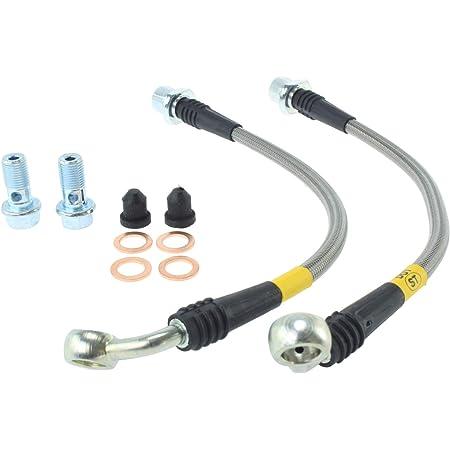 Transparent Hose /& Stainless Banjos Pro Braking PBR8146-CLR-SIL Rear Braided Brake Line