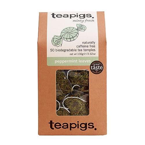 teapigs Peppermint Leaves 100 g (Pack of 1, Total 50 Tea Bags)